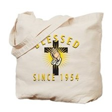 Blessed Since 1954 Tote Bag