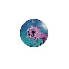 Purple Appaloosa Mini Button