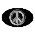 Silver Peace Sign Sticker