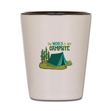 The World is My Campsite Shot Glass