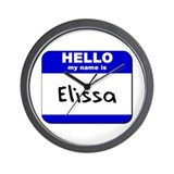 hello my name is elissa  Wall Clock