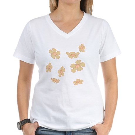 Pretty Yellow Flowers Women's V-Neck T-Shirt