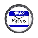 hello my name is eliseo  Wall Clock