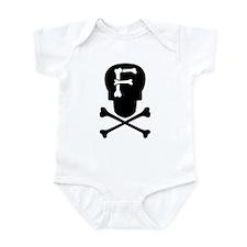 Skull & Crossbones Monogram F Infant Bodysuit