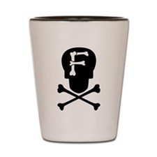 Skull & Crossbones Monogram F Shot Glass