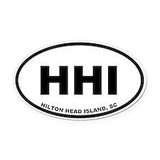 Hilton Head Island SC Oval Car Magnet