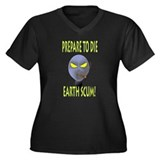 alien Women's Plus Size V-Neck Dark T-Shirt
