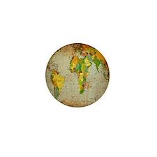 World Map V Mini Button (100 pack)