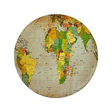"World Map V 3.5"" Button (100 pack)"