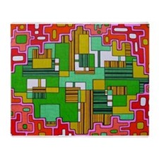 Rounded Rectangles Throw Blanket
