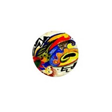 August Macke - Abstract Pattern I Mini Button