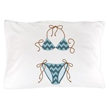 Blue Bikini Pillow Case