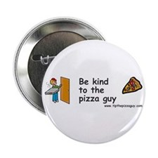 "Cute Delivery guy 2.25"" Button (10 pack)"