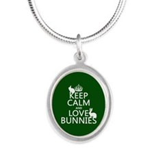 Keep Calm and Love Bunnies Necklaces