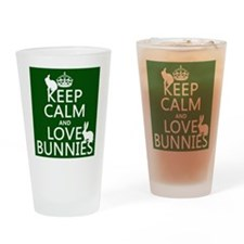 Keep Calm and Love Bunnies Drinking Glass