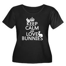 Keep Calm and Love Bunnies Plus Size T-Shirt