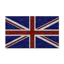 Glitters Shiny Sparkle Union Jack Flag Rectangle C
