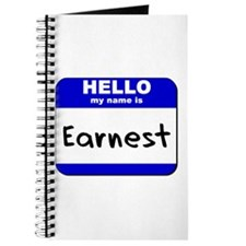 hello my name is earnest Journal