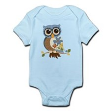 Owl With Flowers Body Suit