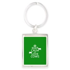 Keep Calm and Love Cows Keychains
