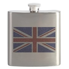 Glitters Shiny Sparkle Union Jack Flag Flask