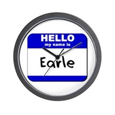 hello my name is earle  Wall Clock
