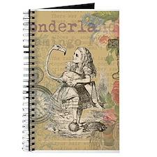 Alice in Wonderland Flamingo Journal