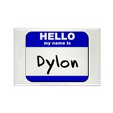 hello my name is dylon Rectangle Magnet