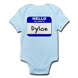 hello my name is dylon  Onesie