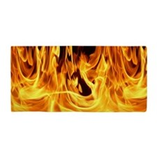Inferno Flames Beach Towel