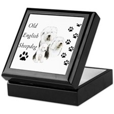 Sheepdog prints Keepsake Box