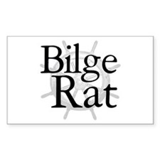 Bilge Rat Pirate Caribbean Rectangle Decal