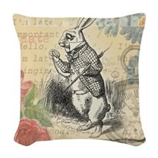 White Rabbit from Alice in Wonderland Woven Throw