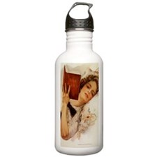Victorian Lady Reading Water Bottle