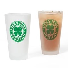 Lucky Irish Hooligan Drinking Glass