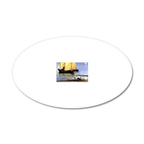 Kroyer - Fishing Boats, P.S. 20x12 Oval Wall Decal