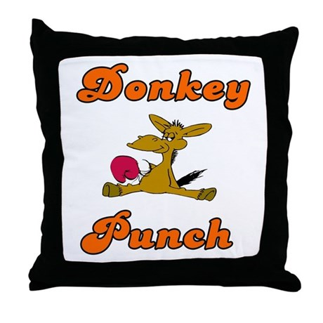 Donkey Punch Throw Pillow