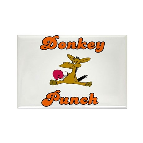 Donkey Punch Rectangle Magnet