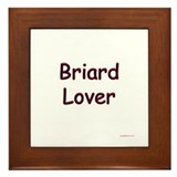 Briard Lover Framed Tile