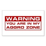 Aggro Zone Rectangle Decal