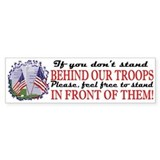 Behind Our Troops Bumper Bumper Sticker