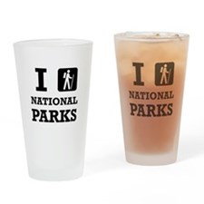 Hike National Parks Drinking Glass