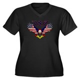 'Eagle w/ Flag Wings (USA)'  Women's Plus Size V-N