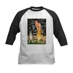 Fairies & Boxer Kids Baseball Jersey