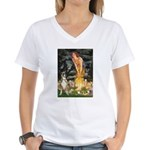 Fairies & Boxer Women's V-Neck T-Shirt