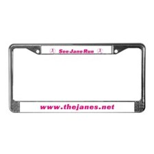 Cute See jane License Plate Frame