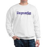 """I am not American"" Dutch & English Jumper"