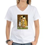 The Kiss & Boxer Women's V-Neck T-Shirt