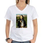 Mona & Boxer Women's V-Neck T-Shirt