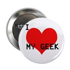 "Cute I love my nerd 2.25"" Button (10 pack)"